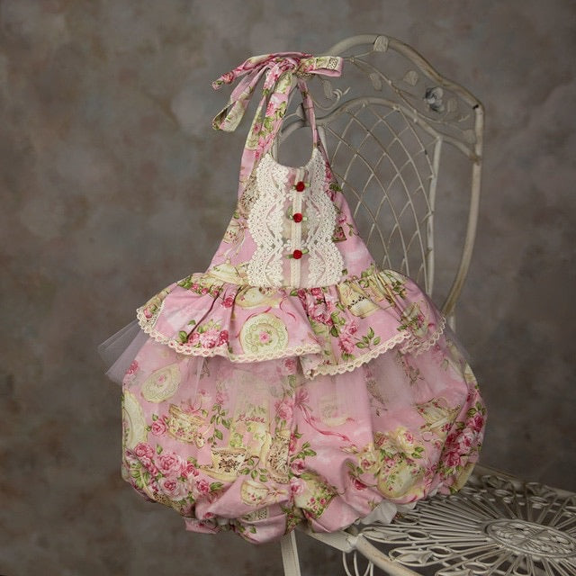Heirloom Florance Sunsuit  - Doodlebug's Children's Boutique