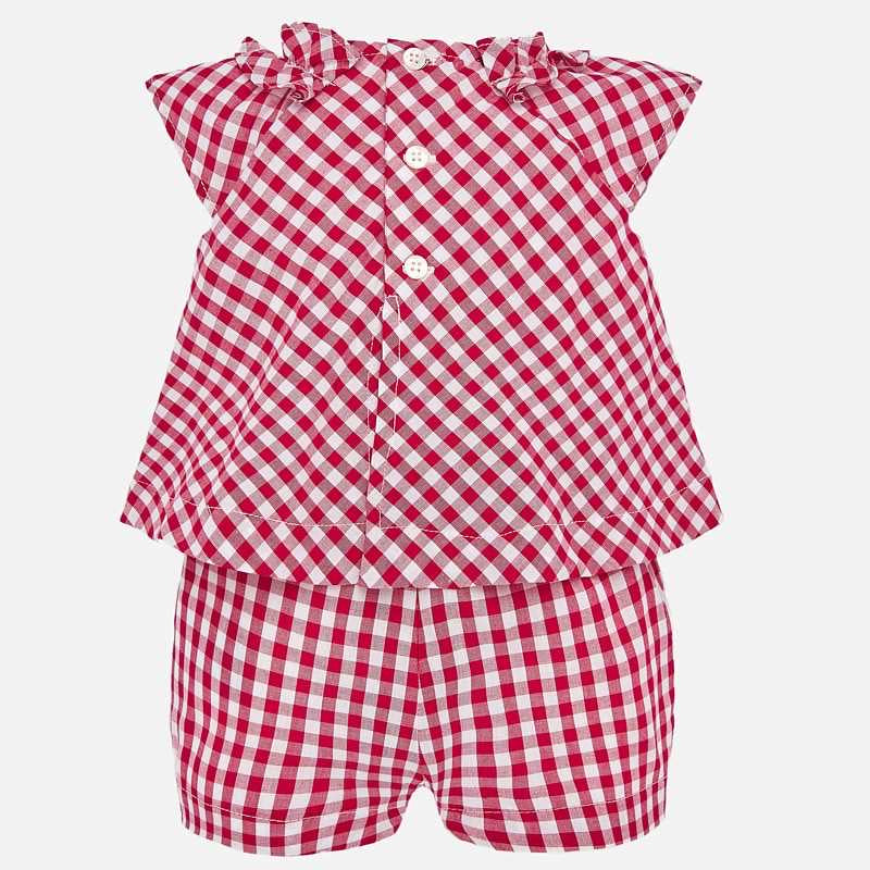 Red Gingham Romper  - Doodlebug's Children's Boutique
