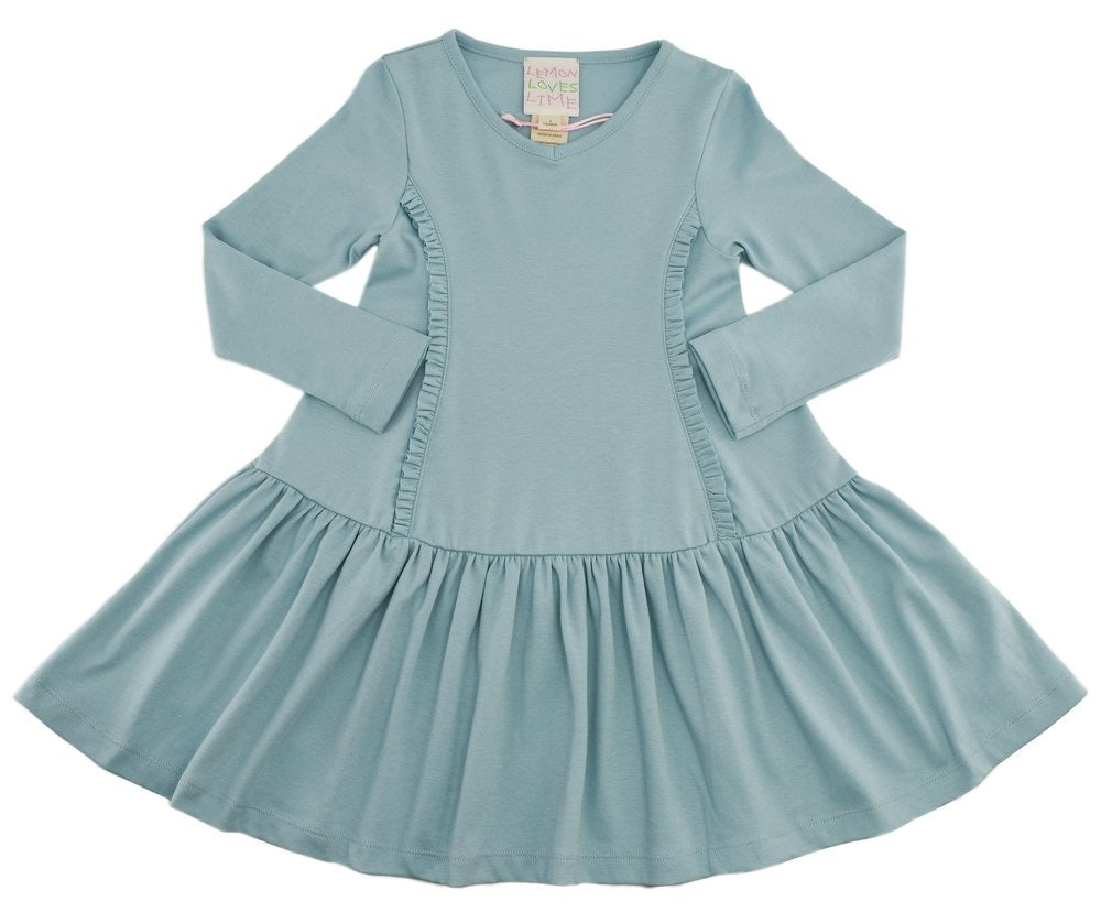 Cinderella Dress in Sterling Blue  - Doodlebug's Children's Boutique