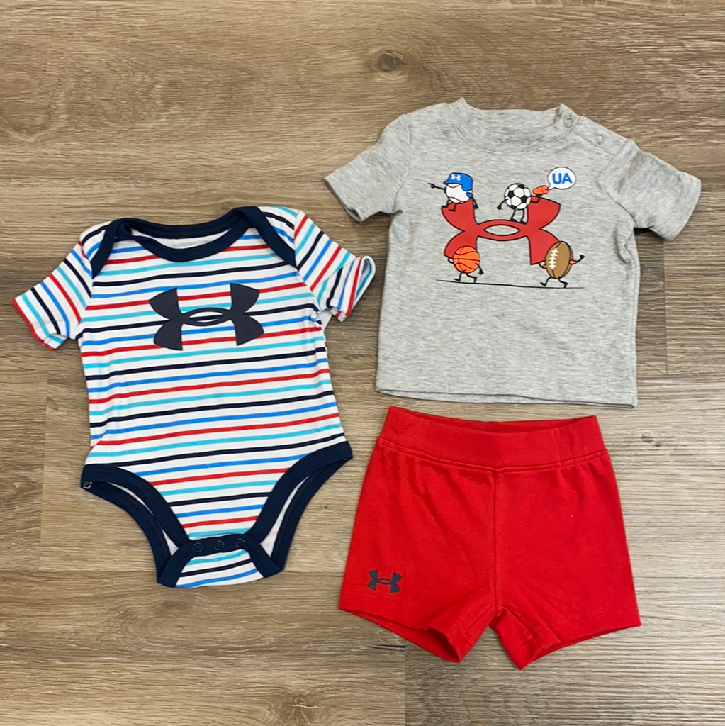 Three Piece Sports Set  - Doodlebug's Children's Boutique