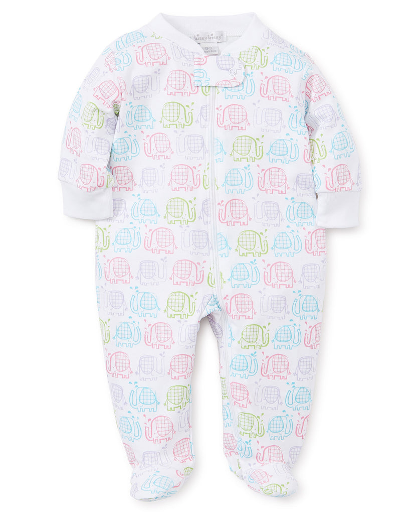 Elephant Ears Footie with Zipper  - Doodlebug's Children's Boutique