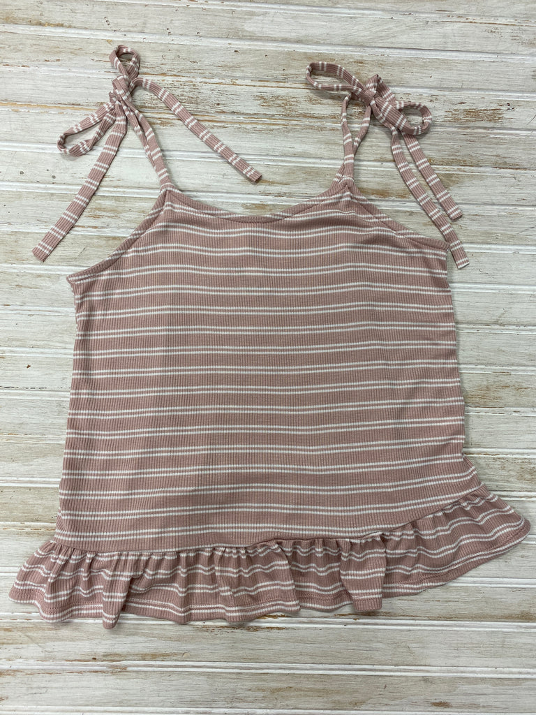 Mauve Striped Tie Sleeve Ruffle Top  - Doodlebug's Children's Boutique