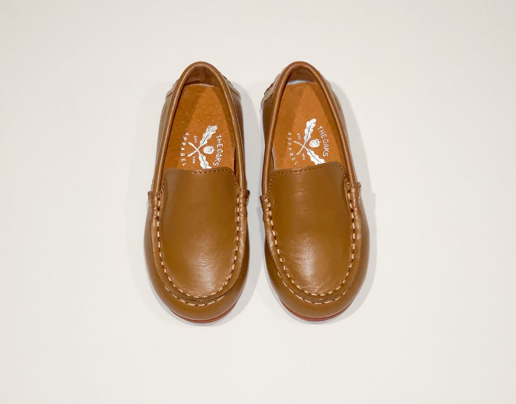 The Oaks Brown Leather Loafers  - Doodlebug's Children's Boutique