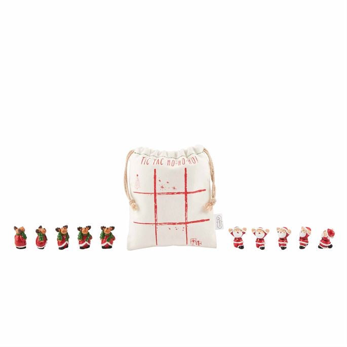 White Tic Tac Toe Christmas Set  - Doodlebug's Children's Boutique