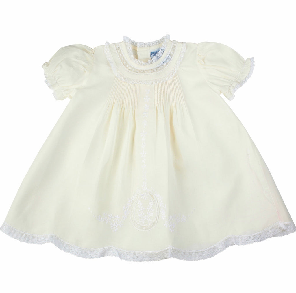 Lace Ruffle Slip Dress in Maize Maize / 3 months - Doodlebug's Children's Boutique