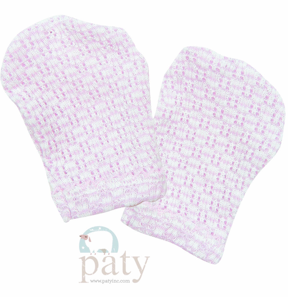 Lavender Stripe Mittens  - Doodlebug's Children's Boutique