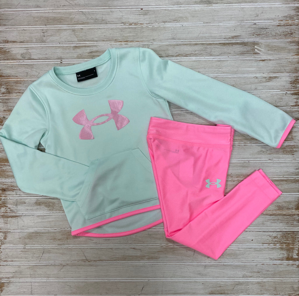 Green and Pink Long Sleeve Shirt and Leggings Set  - Doodlebug's Children's Boutique