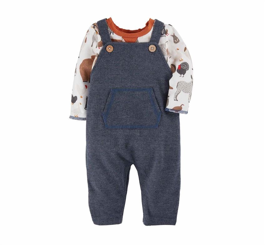 Farm Animals Overall Set  - Doodlebug's Children's Boutique