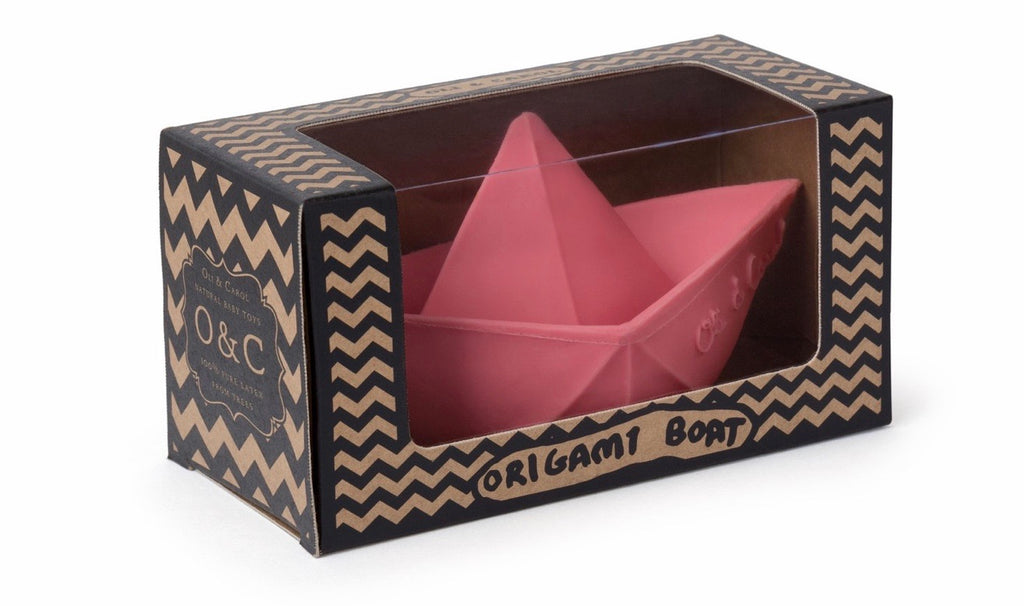 Pink Origami Bath Boat  - Doodlebug's Children's Boutique
