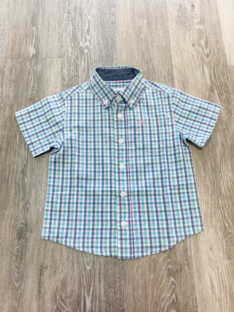 Pastel Check Classic Shirt Pastel Check / 2T - Doodlebug's Children's Boutique