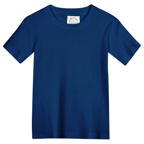 Blanks Boutique Short Sleeve Tee Navy / 5T - Doodlebug's Children's Boutique