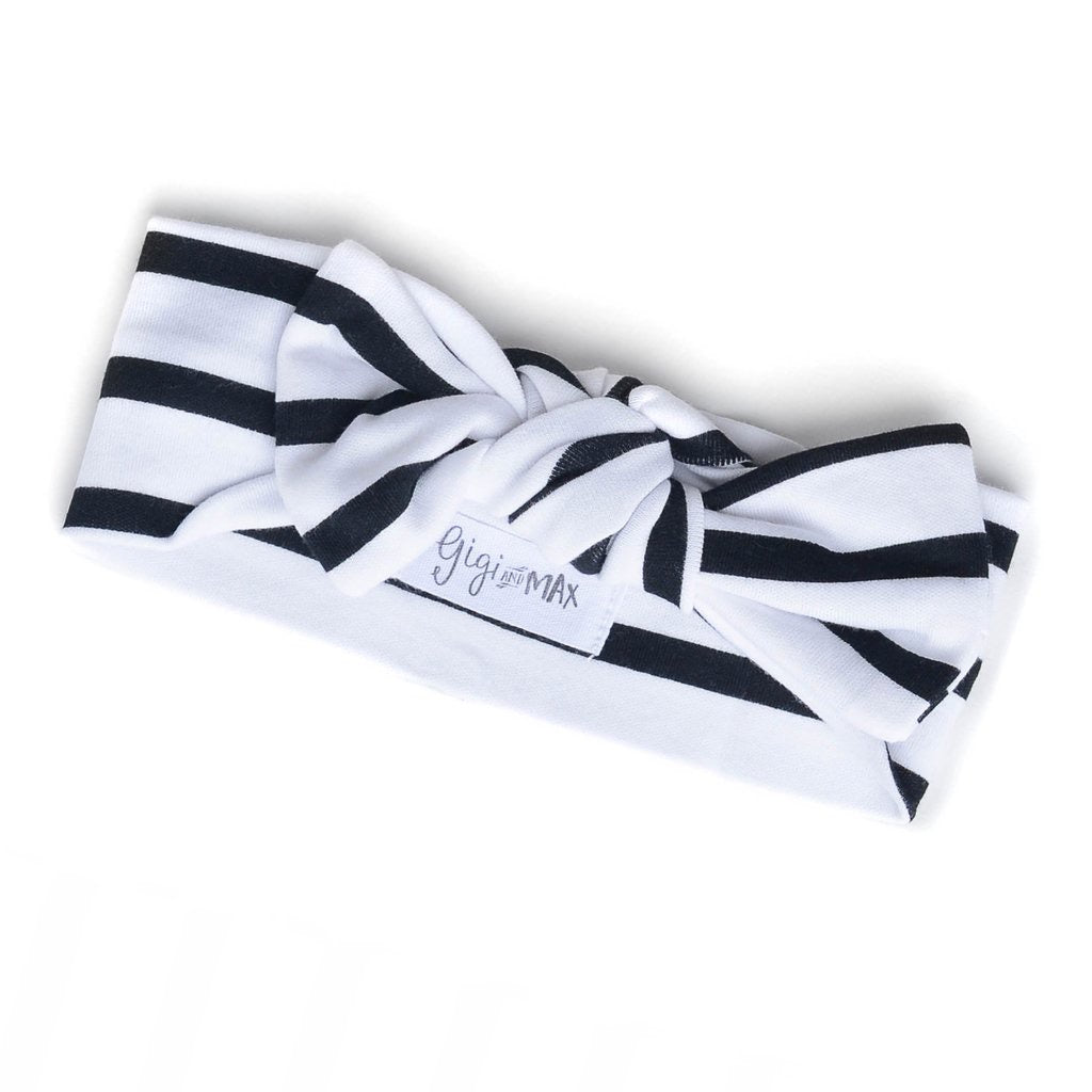 Black and White Stripe Headband  - Doodlebug's Children's Boutique