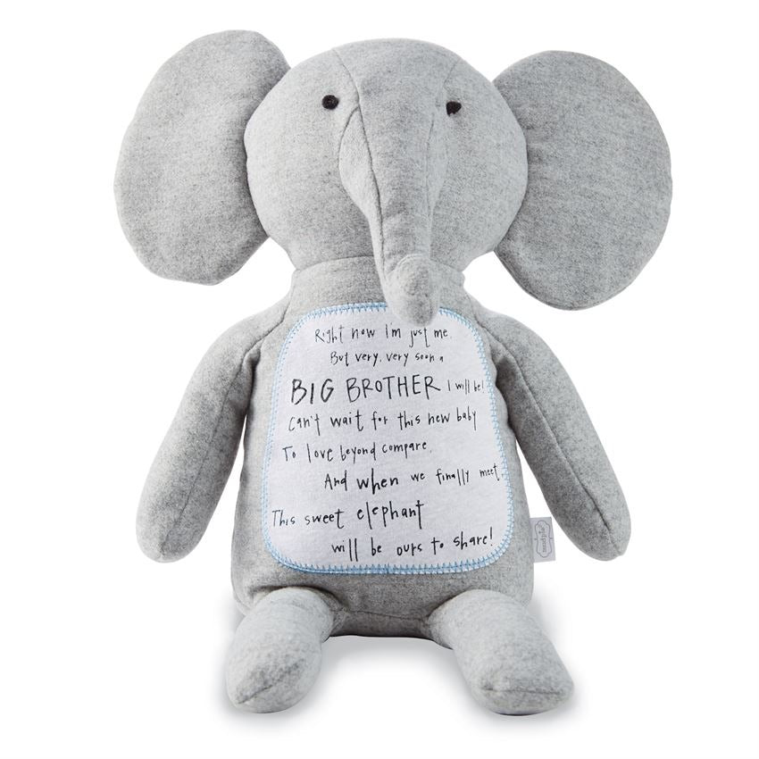 Mud Pie Big Bother Elephant Plush  - Doodlebug's Children's Boutique