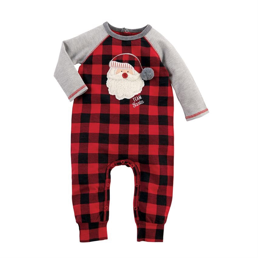 Santa Buffalo Check One-Piece  - Doodlebug's Children's Boutique