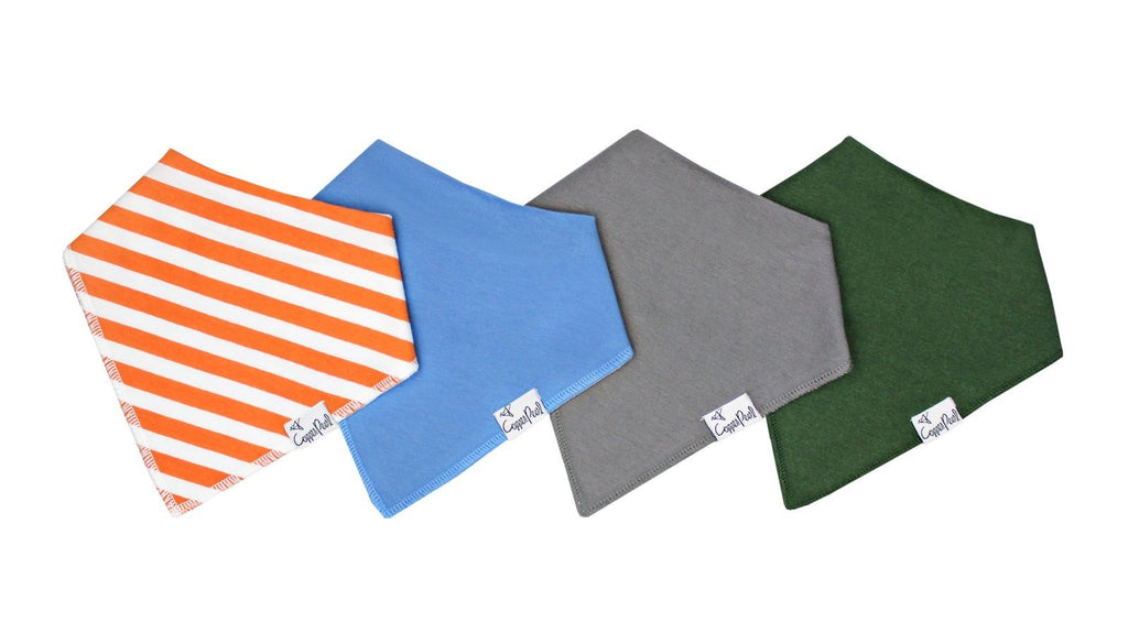 Copper Pearl 4-Pack Bandana Bibs Jackson - Doodlebug's Children's Boutique
