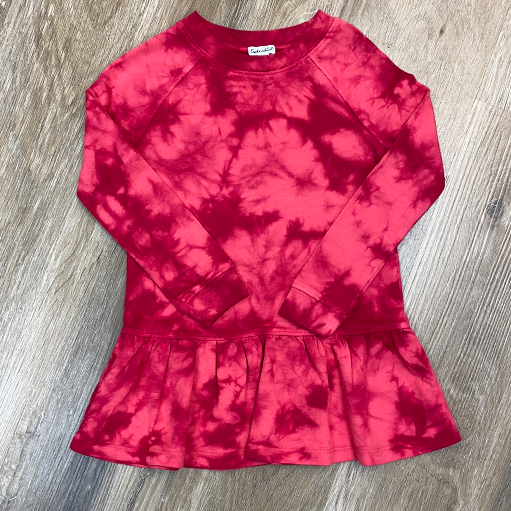 Tie Dye Dress in Rapture Rose  - Doodlebug's Children's Boutique