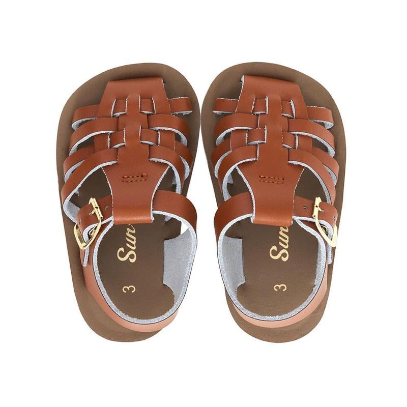 Sun San Salt Water Sandals Sailor Tan / 3 - Doodlebug's Children's Boutique