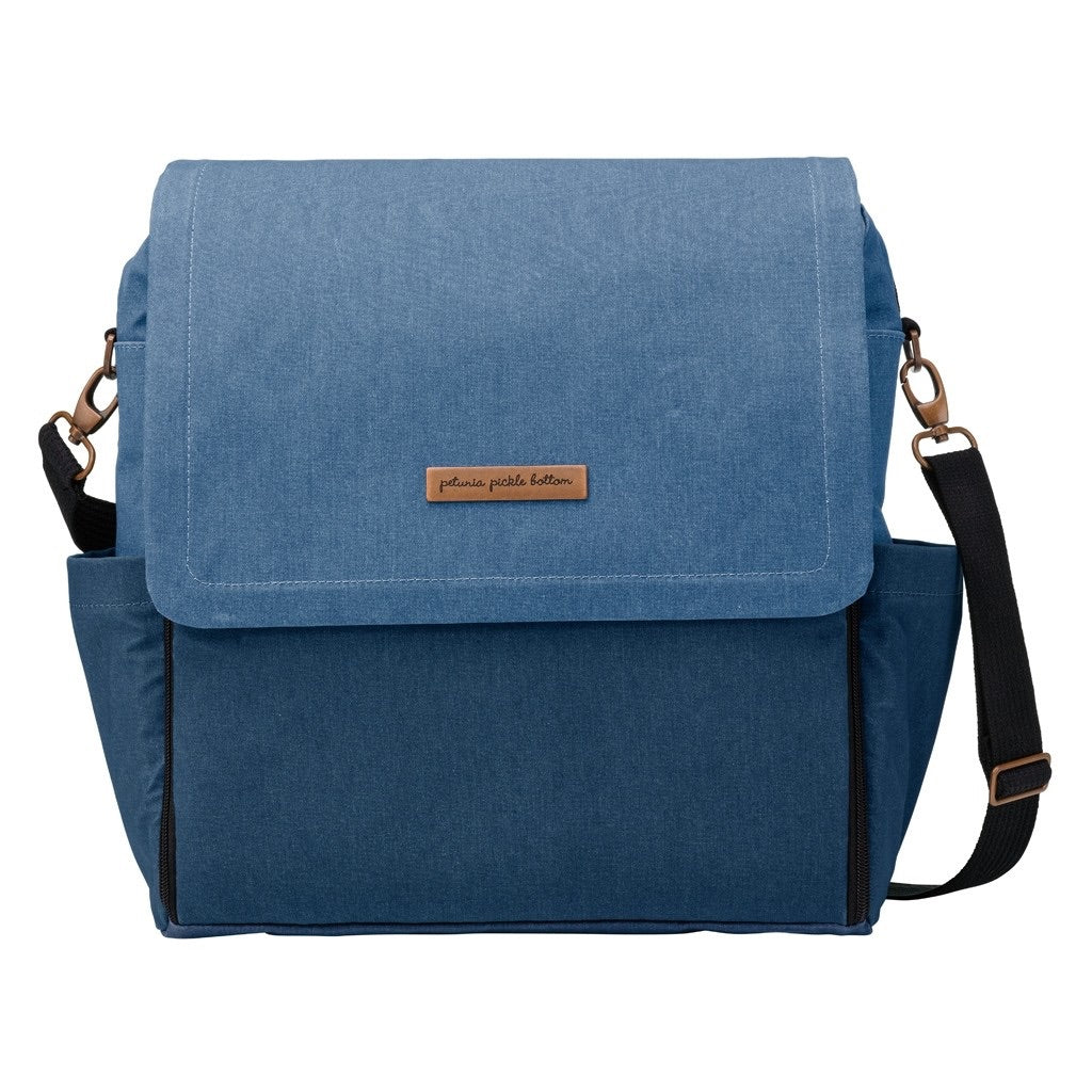 Denim Boxy Backpack Diaper Bag Denim - Doodlebug's Children's Boutique