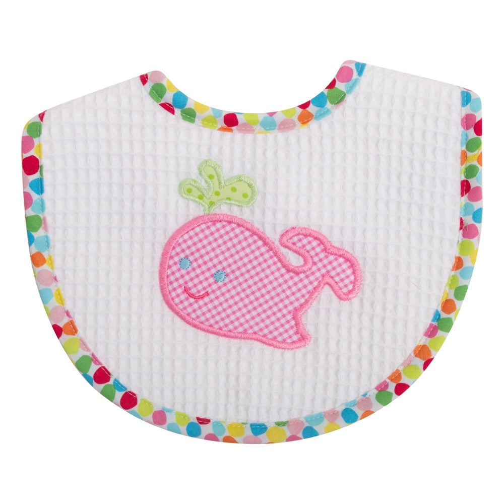 Pink Whale Medium Bib Pink Whale - Doodlebug's Children's Boutique