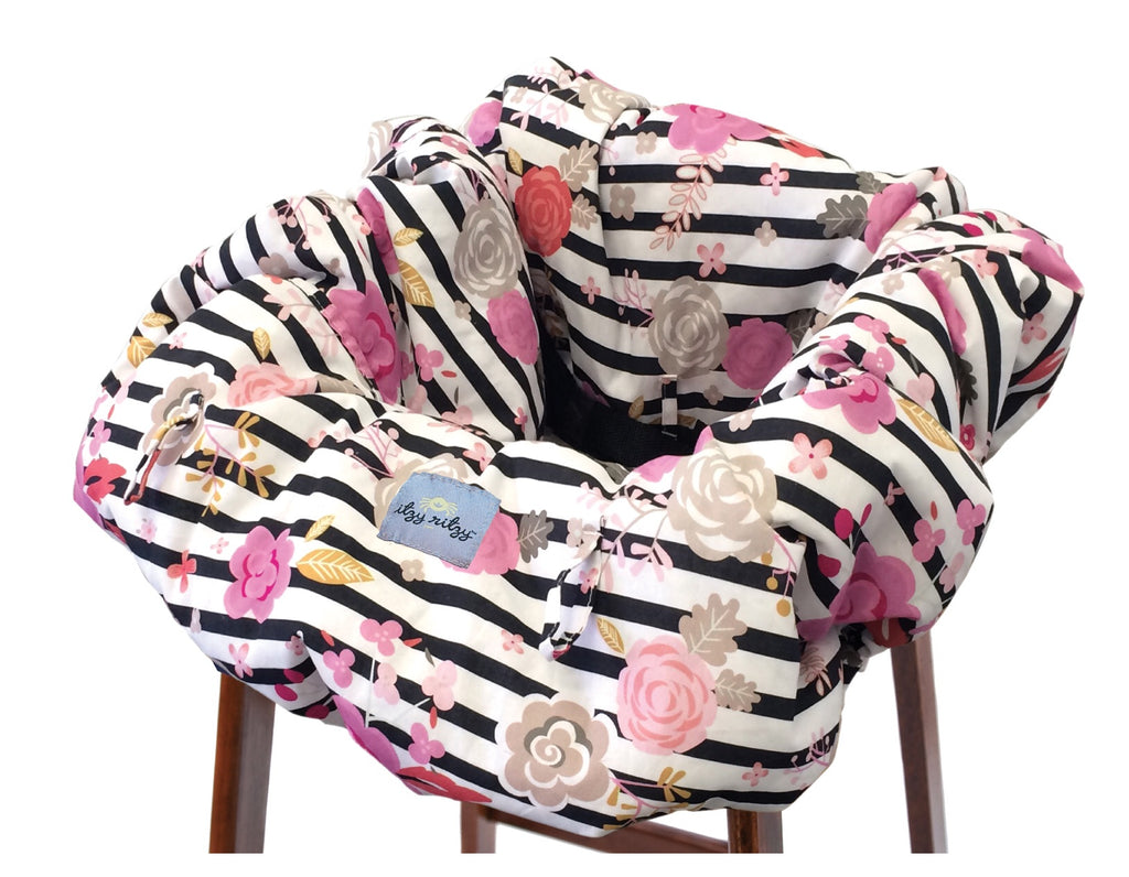 Floral Stripe Shopping Cart and High Chair Cover Floral Stripe - Doodlebug's Children's Boutique