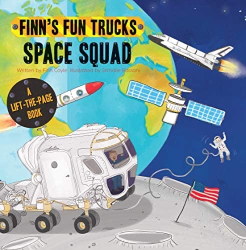 Finns Fun Trucks Space Squad Book  - Doodlebug's Children's Boutique