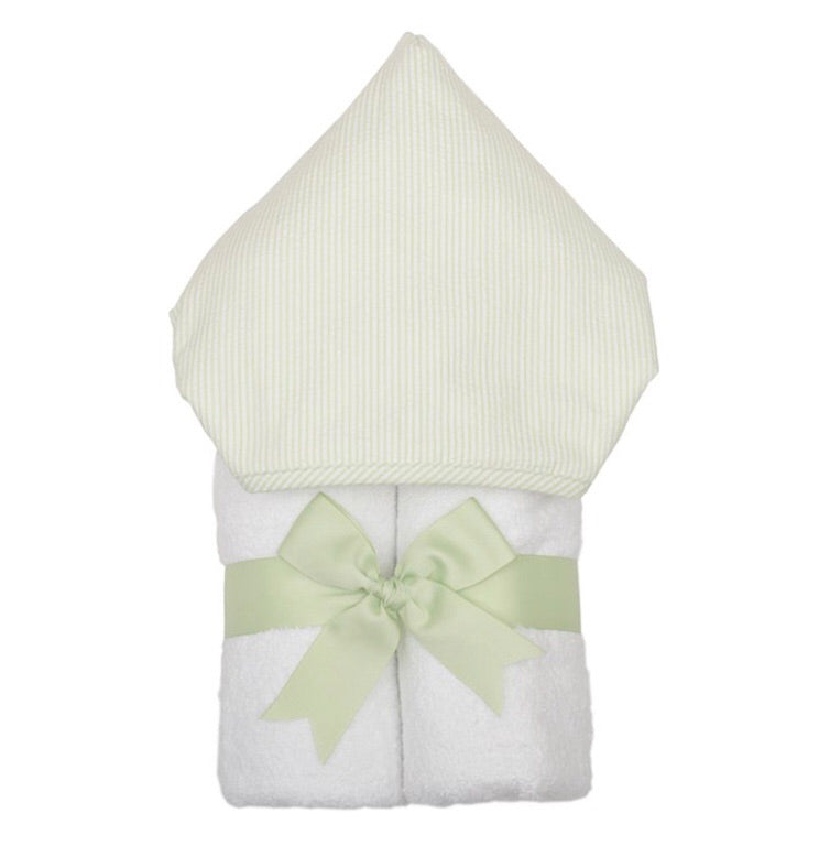 Green Stripe Everykid Hooded Towel Green Stripe - Doodlebug's Children's Boutique