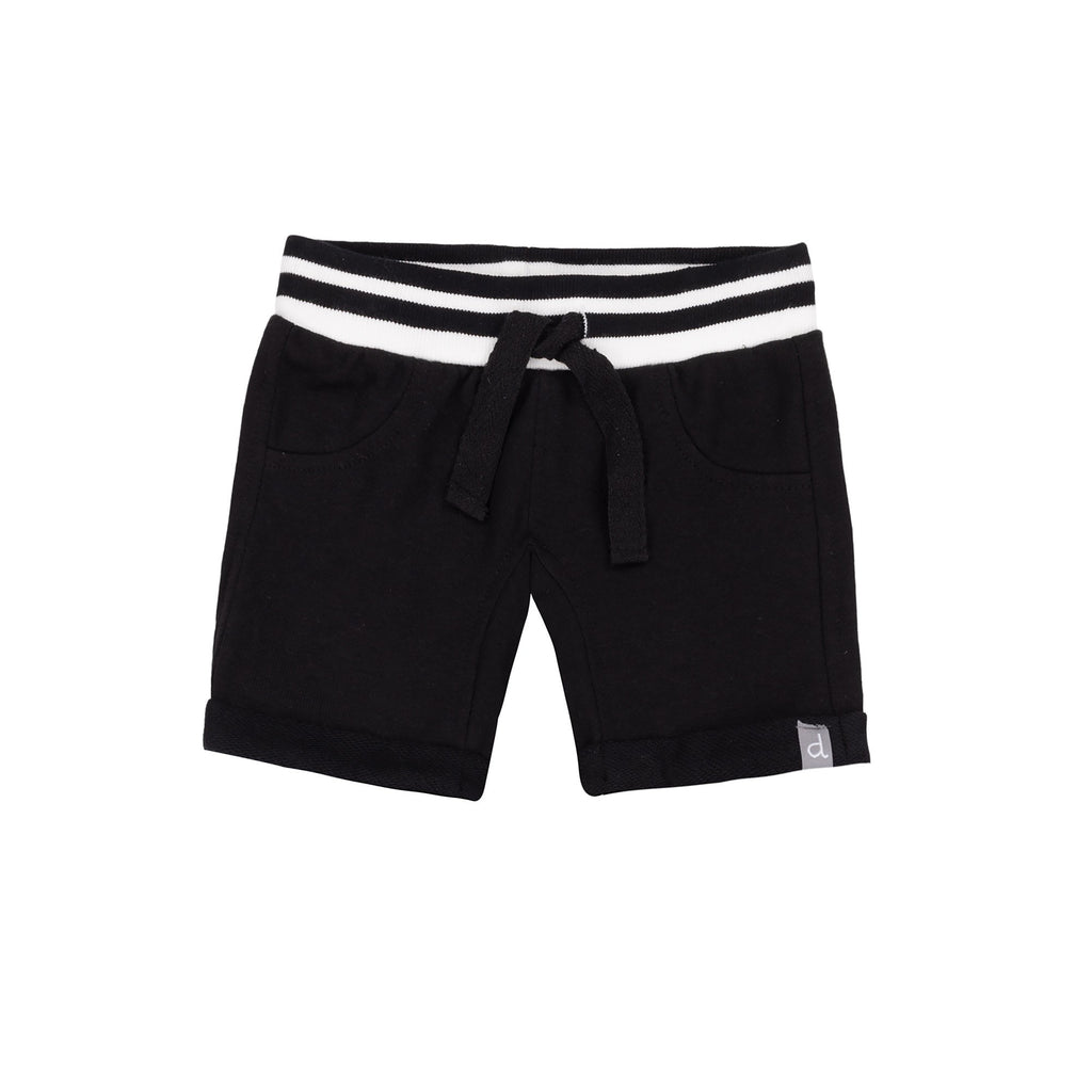 Black French Terry Shorts  - Doodlebug's Children's Boutique