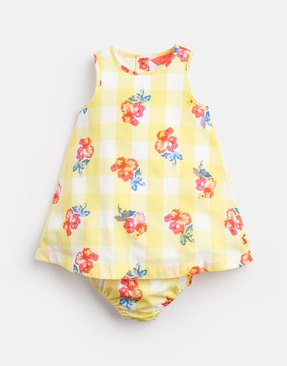 Joules Yellow Floral Dress Set