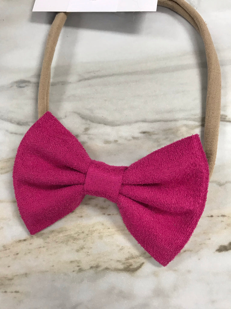 Hot Pink Suede Headband  - Doodlebug's Children's Boutique