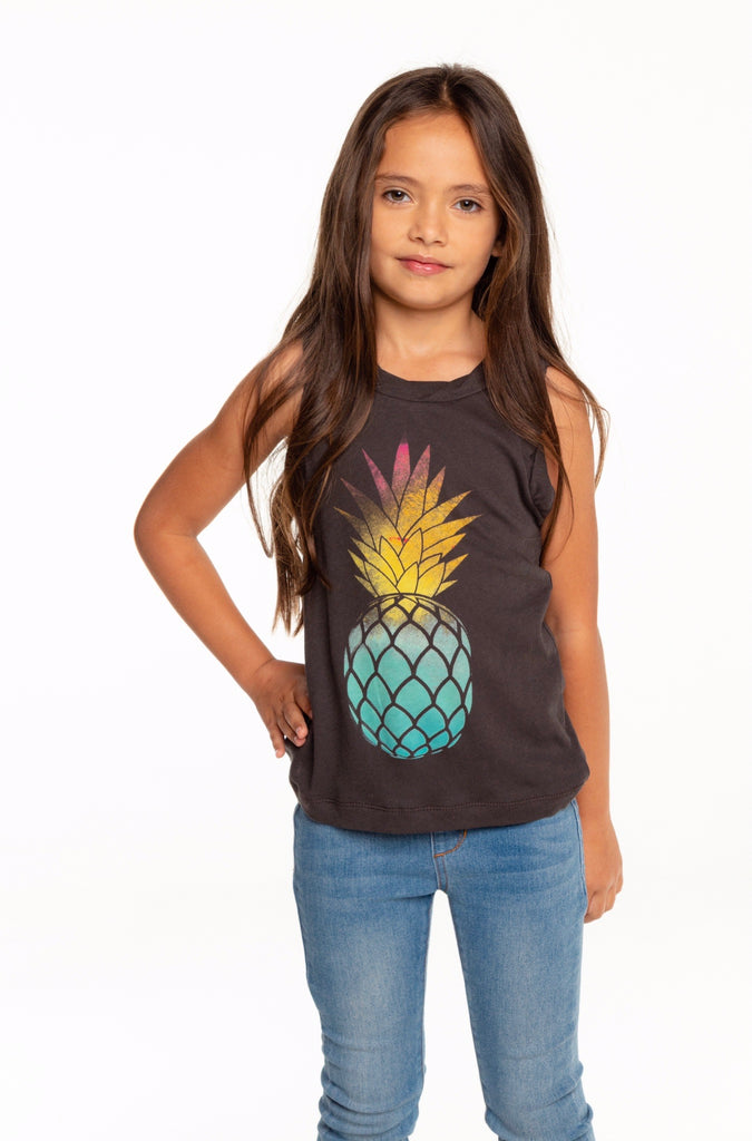 Watercolor Pineapple Tank  - Doodlebug's Children's Boutique