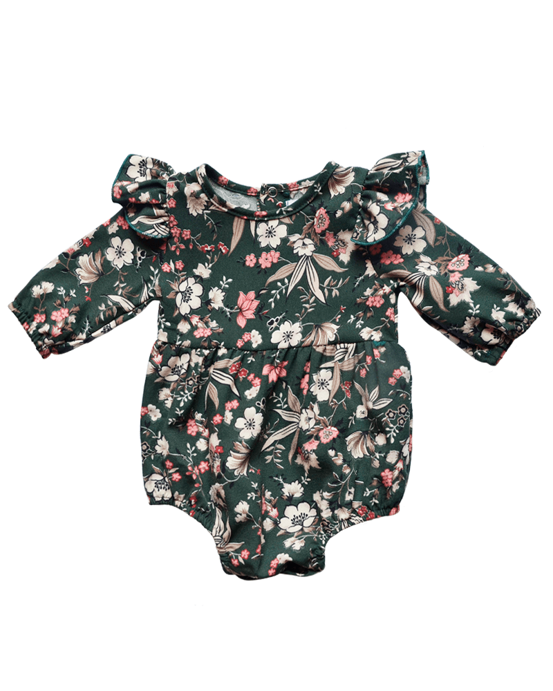 Bailey's Blossoms Juniper Green Theodora Romper