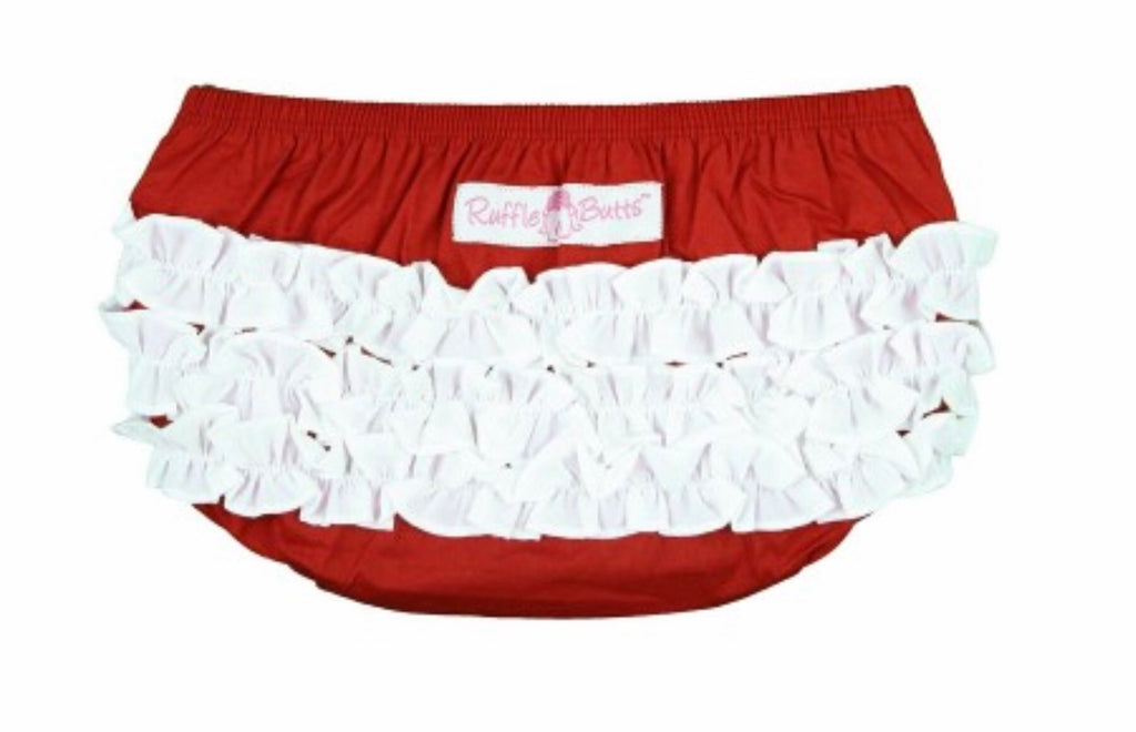 Red and White Woven Bloomer Red & White / 0-3 months - Doodlebug's Children's Boutique