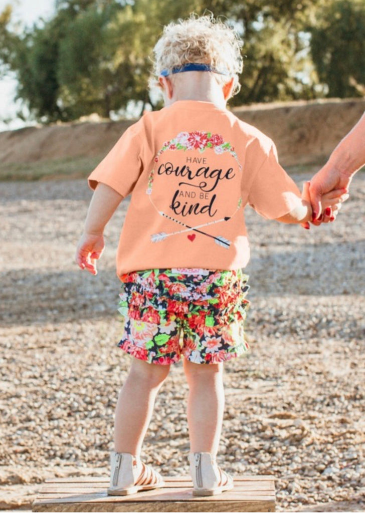 Ruffle Butts Courage Signature Tee  - Doodlebug's Children's Boutique