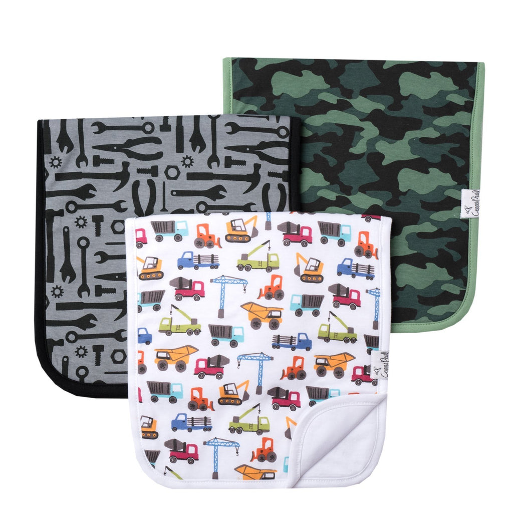 Diesel 3 Pack Burp Cloths  - Doodlebug's Children's Boutique