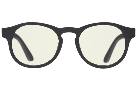 Keyhole Blue Light Blocking Glasses in Black Ops Black  - Doodlebug's Children's Boutique