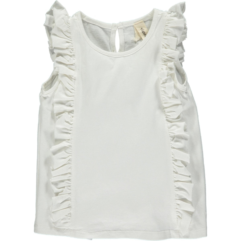 Pippin Tank in Ivory Ivory / 2T - Doodlebug's Children's Boutique
