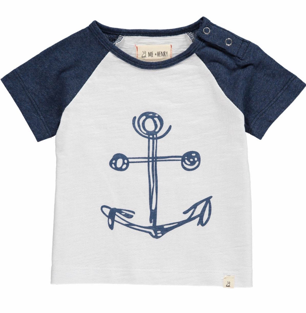Me & Henry Anchor Print Tee