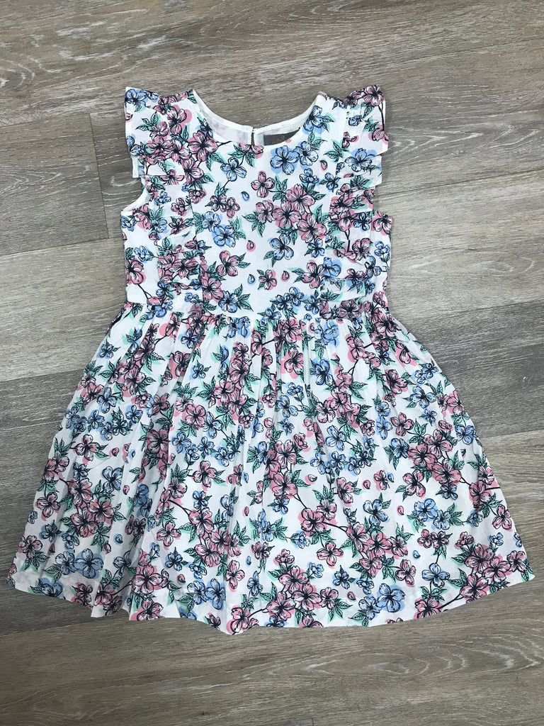 Floral Flutter Sleeve dress  - Doodlebug's Children's Boutique