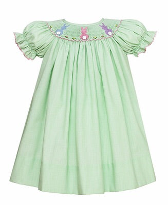 Petit Bebe Green Easter Dress