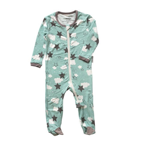 Mint Star Lil Dream Printed Footie Mint Star / 0-3m - Doodlebug's Children's Boutique