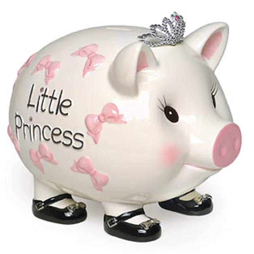 Mud Pie Giant Princess Piggy Bank