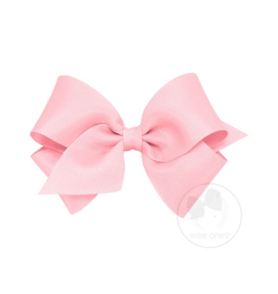 Wee Ones Small Classic Bow Light Pink - Doodlebug's Children's Boutique