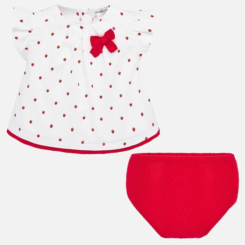 Strawberry Top and Bloomer Set  - Doodlebug's Children's Boutique