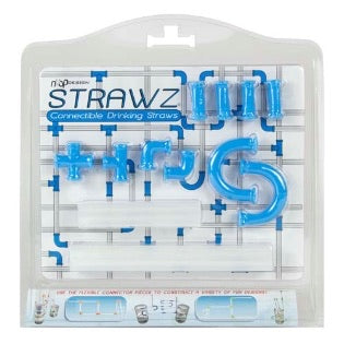 Blue Connectable Drinking Straws  - Doodlebug's Children's Boutique