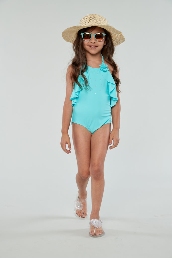 Kate Mack Aqua Blue Swimsuit