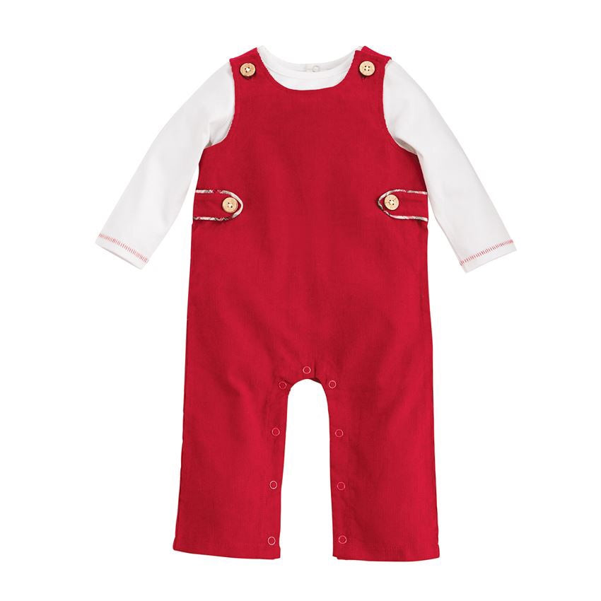 Mud Pie Red Longall and Shirt Set  - Doodlebug's Children's Boutique
