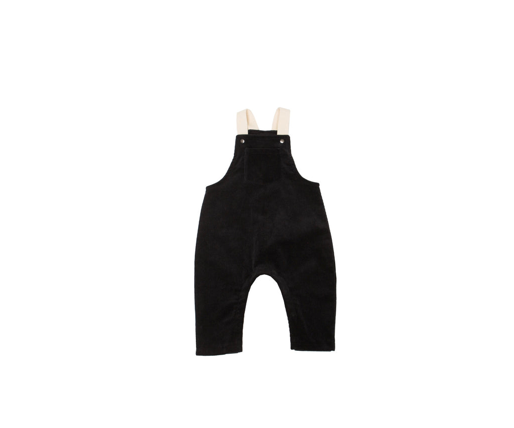 The Overalls In Black  - Doodlebug's Children's Boutique