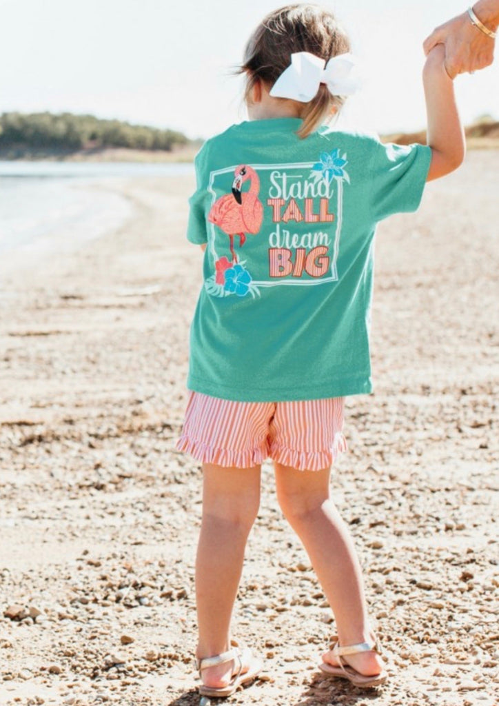 Ruffle Butts Stand Tall Signature Tee  - Doodlebug's Children's Boutique