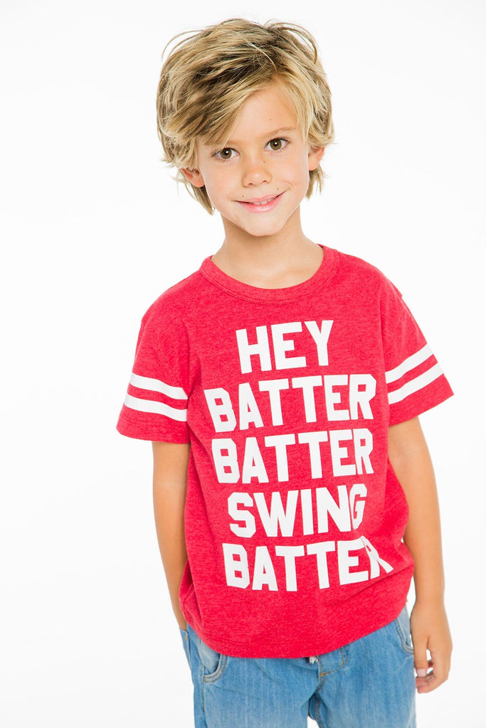 Hey Batter Batter Tee  - Doodlebug's Children's Boutique
