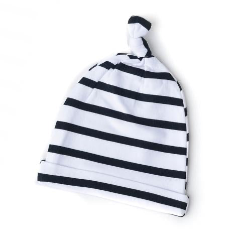 Black and White Stripe Knotted Hat  - Doodlebug's Children's Boutique